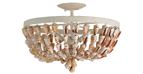 Seashell Ceiling Mount Light