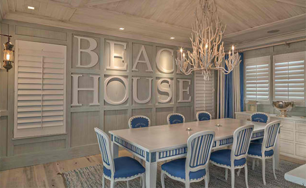 Florida Beach Cottage Typo Dining