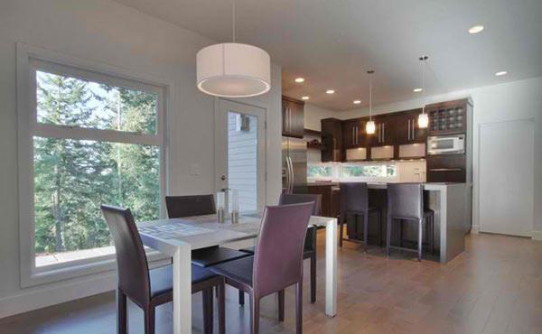 purple kitchen table