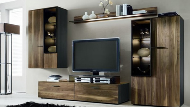15 classy flat screen tv furniture for your homes home design lover rh homedesignlover com flat screen tv shelving units flat screen tv shelves for the wall