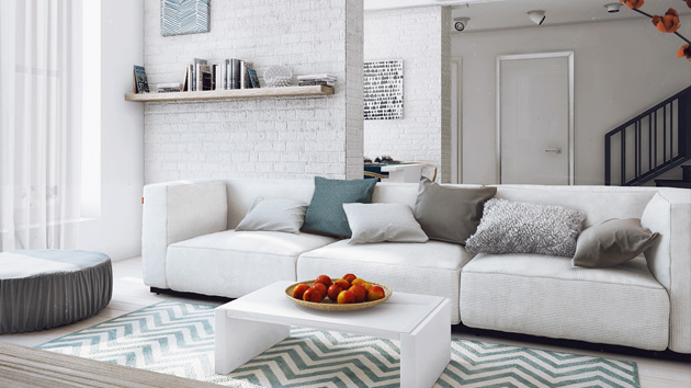 15 modern white and gray living room ideas home design lover for Living room ideas white and grey