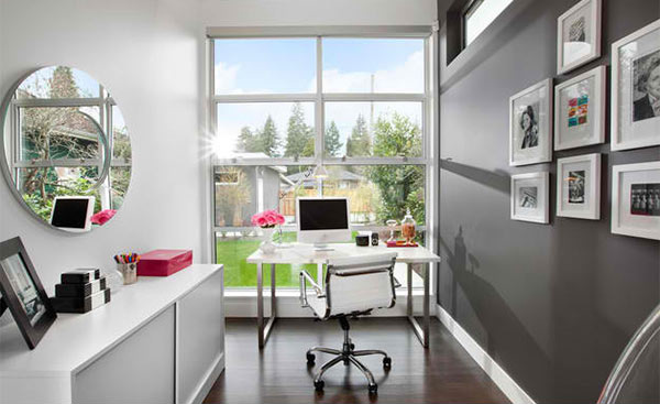 Gray Home Office 15 Ideas For Contemporary Designs  Design Lover