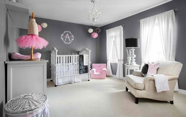 15 sweet baby girl bedroom designs for your princess for Baby pink bedroom ideas