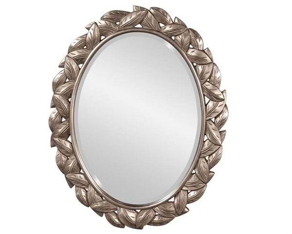 Caesar Silver Oval Mirror
