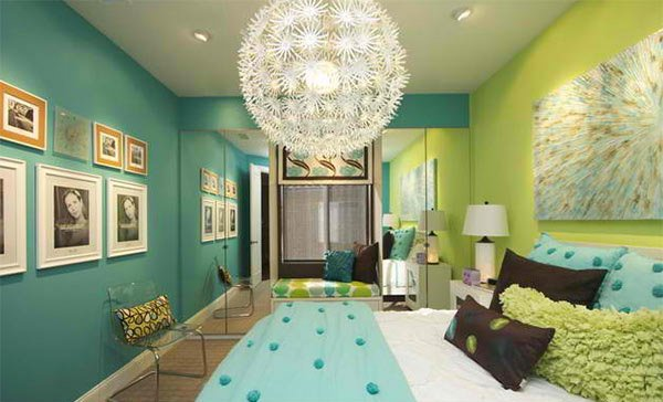 15 killer blue and lime green bedroom design ideas home design lover. Black Bedroom Furniture Sets. Home Design Ideas