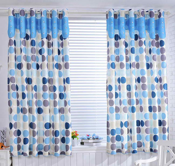 Polka Dots Curtains in Blue