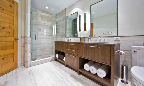 15 Bathroom Designs With Flat Panel Cabinets Home Design