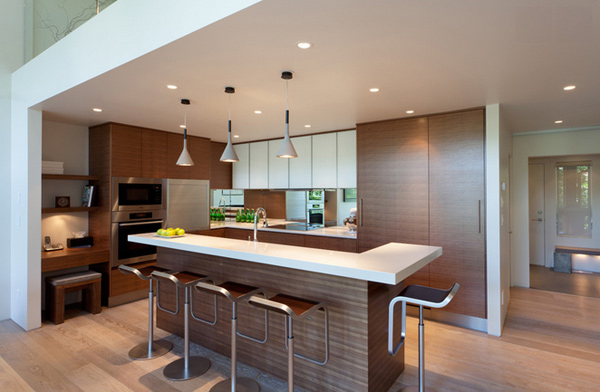 15 Astonishing Contemporary L-Shaped Kitchen Layouts ...