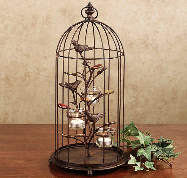 Songbird Birdcage Metal Tealight Holder