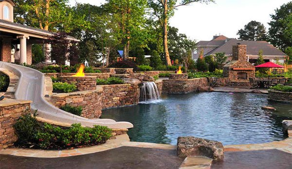 backyard traditional pool