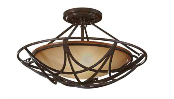 rustic interior lighting. Round Ceiling Light Fixture Rustic Interior Lighting