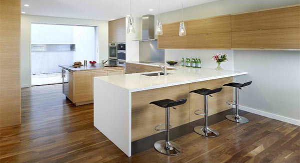 Peninsula Shaped Modern Kitchens