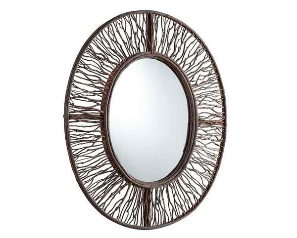 Fir Wood Rossi Mirror - Walnut