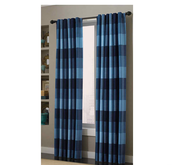Blue Window Panel Curtains width=