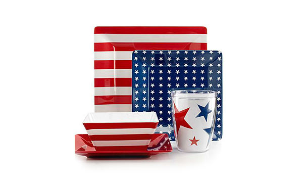 Star-Spangled Melamine Mix & Match Collection