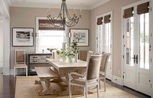 15 ideas for beige dining rooms home design lover. Black Bedroom Furniture Sets. Home Design Ideas