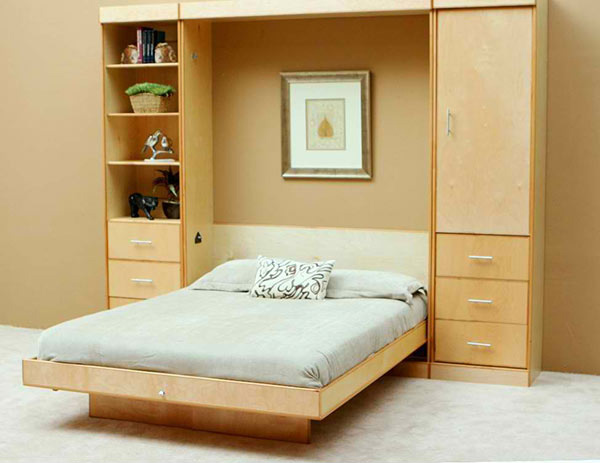 storage areas Wall Bed