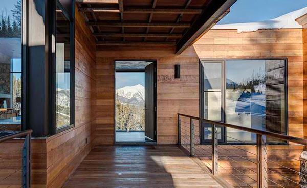 wood exterior material