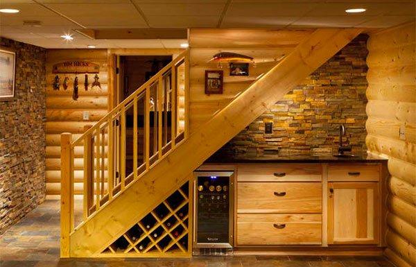 stairs wine rack