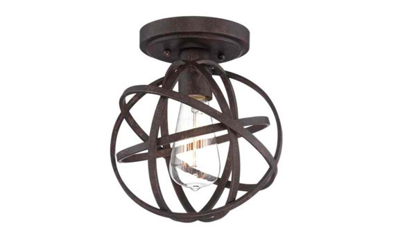 industrial bronze ceiling light - Semi Flush Mount Lighting