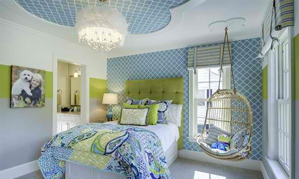 Blue and Lime Green