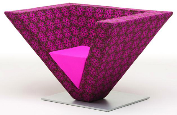 inverted pyramid chair