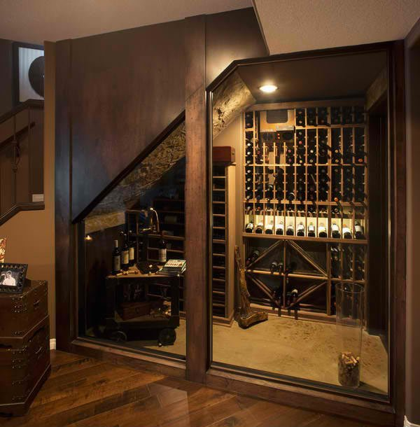 15 space savvy under stairs wine cellar ideas home for Home wine cellar designs
