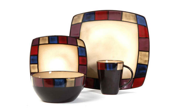 Soho Lounge Mosaic 16-piece Dinnerware Set