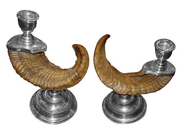 Ram Horn Candlesticks