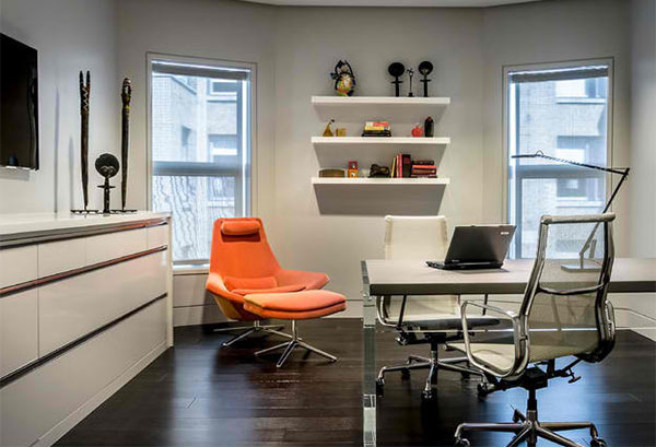 15 Ideas For Contemporary Gray Home Office Designs | Home Design Lover