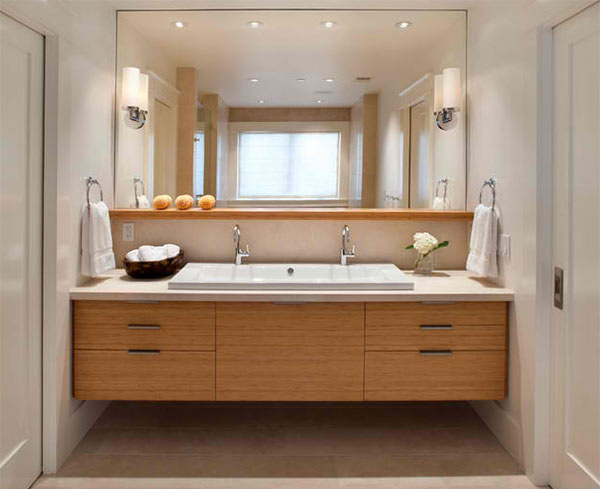 Vanity Pulls Bathroom 15 bathroom designs with flat-panel cabinets | home design lover