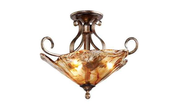 Wide Ceiling Light Fixture