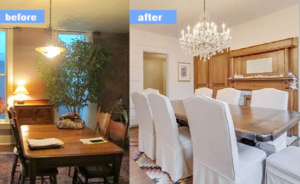 Before and After Nashville Dining Room