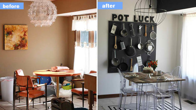 15 Before And After Pictures Of Dining Room Makeovers