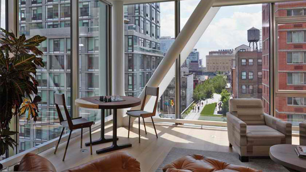 Impressive relaxing interior of an apartment on the high line in new york home design lover