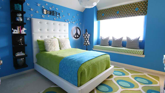 Interior Blue Green Bedroom 15 killer blue and lime green bedroom design ideas home lover