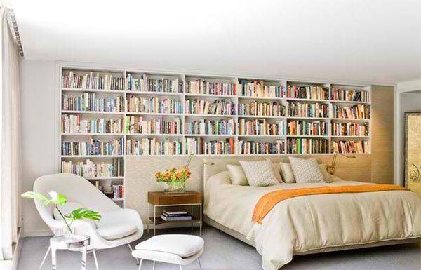 bedrooms your decorate with kindesign bedroom ways bookshelf bookshelves to relaxing
