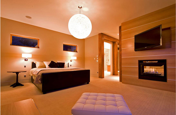 Etonnant Modern Bedroom Fireplace Designs