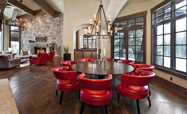 15 Dining Rooms In Red Black And White Colors Home