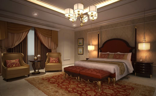 Classic Elegant Bedroom Interior