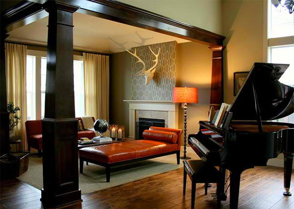 Victorian Music Room Interior Design