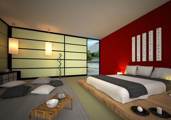 Attractive Japanese Style Bedroom