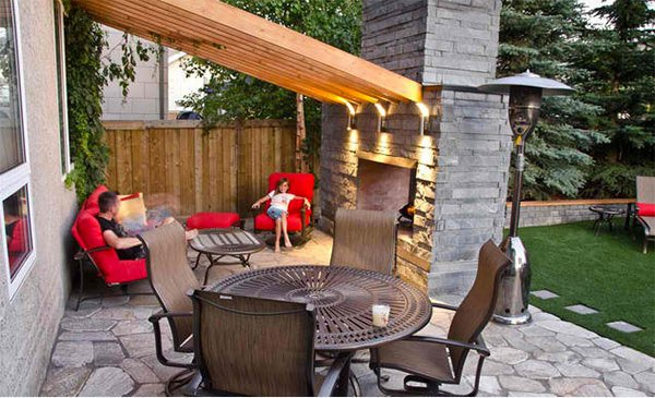 pergola fireplace