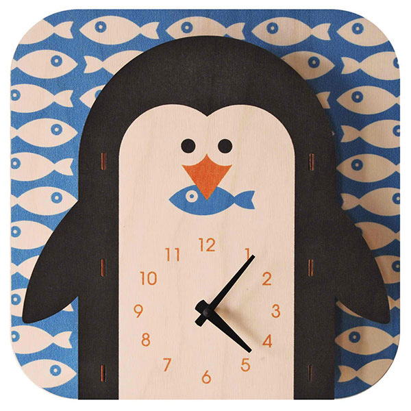 Popclox Penguin 3D Art Clock