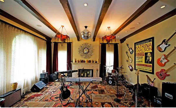 eclectic music room