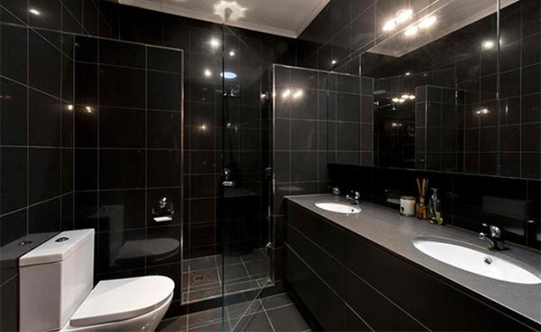Black Cabinet Designs In 15 Bathroom Spaces Home Design