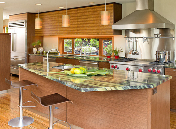 Asian style kitchen cabinets