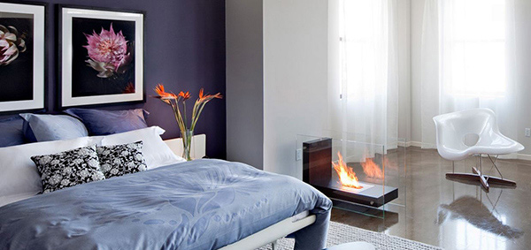 20 modern bedroom with fireplace designs | home design lover