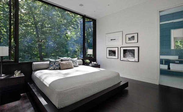 15 Dark Wood Flooring in Modern Bedroom Designs | Home Design Lover