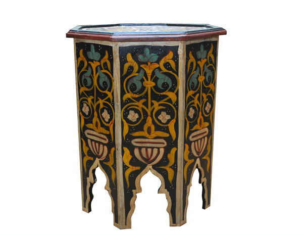 Hand Painted Hexagon Moroccan Drinks Table. Email; Save Photo. Furniture  Designs